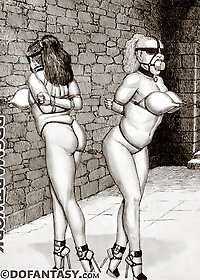 The losers gets thrown in with the diseased, smelly criminals in the pit to be used as a common fuckslut pic 2