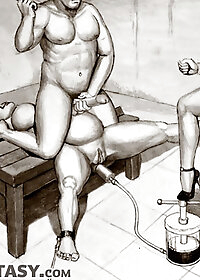 Instantly the whip was slicing into the delicate pink flesh of her anus pic 1