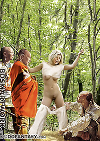 Blanche blanched as she felt a rock hard stiffness poke her in the back pic 1